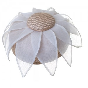Pillbox Blüte, Sisal/Organza