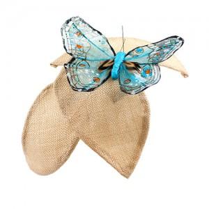 Blätterclip mit großem Schmetterling