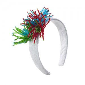 Breiter Haarreif mit Roccallies-Blüten