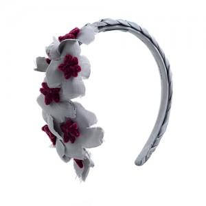 Ripshaarreif Hellgrau mit seitlichen Blüten