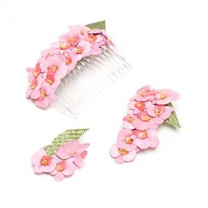 Kamm, Brosche und Clip, Sisol mit Streublüten