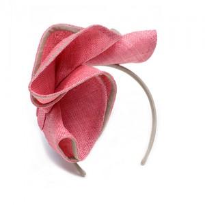 Muschelhaarreif, Sisal, magnolie/kiesel