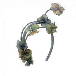 Harreif Sisal, grau mit Blüten