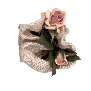 Sisalclip mit Rosen