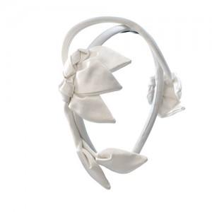 Braut-Haarreif mit Satinblättern