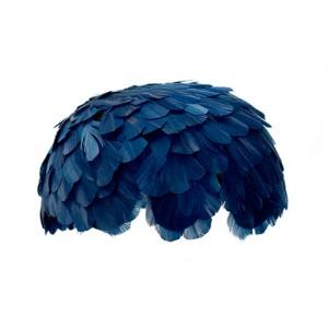 Federkappe blau