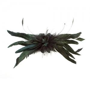 Haarclip mit Hahnenschlappen und Swarowski