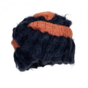 Strickturban orange/schwarz