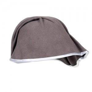 Filz-Kappe taupe mit hellgrauem Einfass
