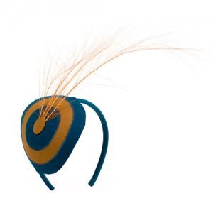 Filz-Haarreif Kreis mit Reiherfedern