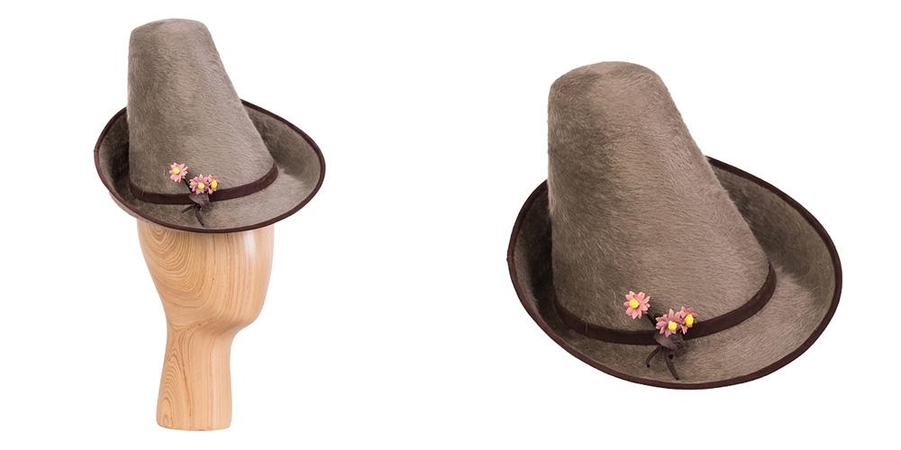 Melousin-Haarfilz mit Ledereinfass, in Kooperation mit Annette Petermann